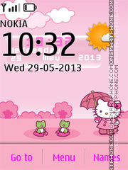 Hello Kitty Live Theme 01 es el tema de pantalla