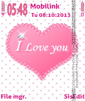 I love you es el tema de pantalla