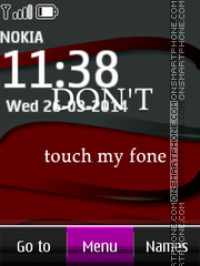 Dont Touch My Phone 02 es el tema de pantalla