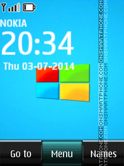 Windows Clock 03 es el tema de pantalla