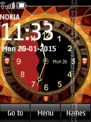 Animated Fire Clock es el tema de pantalla