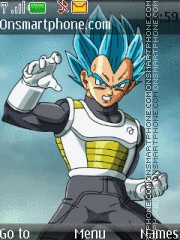 Dragon Ball Z Vegeta es el tema de pantalla