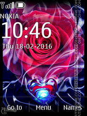Rose and Heart 01 es el tema de pantalla