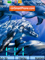 Clock with Dolphins Animated es el tema de pantalla