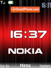 Red Nokia flash 1.1 es el tema de pantalla