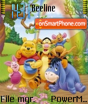 The Pooh and Family es el tema de pantalla