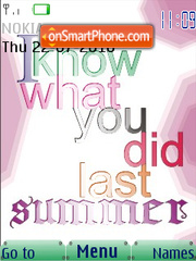 I Know What You Did Last Summer SWF es el tema de pantalla