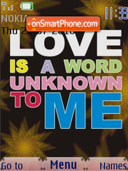 Love is a Word Unknown To Me SWF es el tema de pantalla