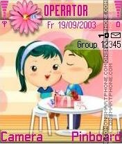 Cute toon couple es el tema de pantalla