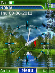 clock nature animated es el tema de pantalla